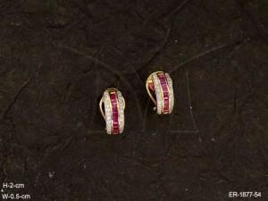 Ad Jewellery , Stud Center Layered Ad Earrings | Manek Ratna