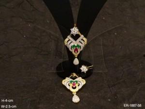 Ad Jewellery , Triangular Oval Wrap Fall Ad Earrings | Manek Ratna