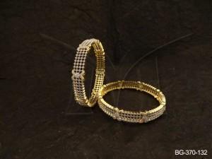 Ad Jewellery , Checks Bow Style Segment Ad Bangles | Manek Ratna