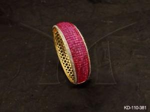 Ad Jewellery , Curved Broad Style Ad Kada | Manek Ratna