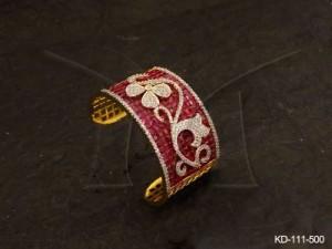 Ad Jewellery , Flower Leaf Style Designed Ad Kada | Manek Ratna