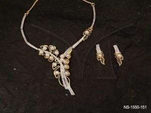 Ad Jewellery , Gift Knought Tide Style Ad Necklace Set | Manek Ratna