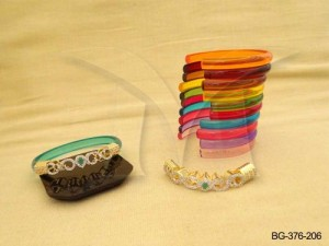 Ad Jewellery , Paan Curved Detachable Ad Bangles | Manek Ratna