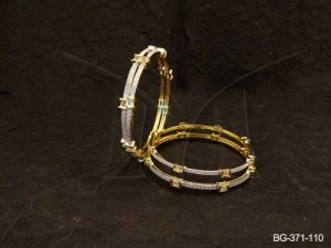 Ad Jewellery , Parallel Joint Square Square Ad Bangles | Manek Ratna