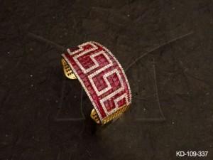 Ad Jewellery , Parallel Lines Designed Broad Ad Kada | Manek Ratna
