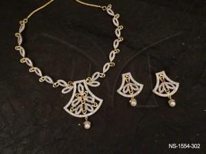 Ad Jewellery , Pendulam Based Seed Style Ad Necklace Set | Manek Ratna