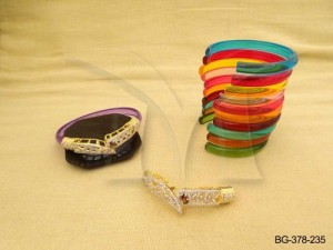 Ad Jewellery , Sharp Ends Mesh Joint Ad Bangles | Manek Ratna