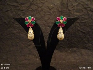 Ad Jewellery is a Flowery Bell Drop Ad Earrings from Manek Ratna