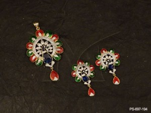 CZ Jewellery with Peacock Style  Designer Beautiful Traditional Exclusive Jewellery Ad Pendant S ...