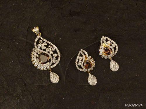 Ad jewellery with simple gold pendant set designs gemstone ad ad jewellery with simple gold pendant set designs gemstone ad pendant sets manek ratna cz jewellery american diamond jewelry manufacturer aloadofball Images