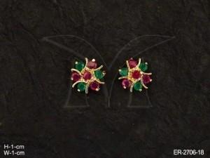 Ad Jewellery , Chakra Moti Ad Earrings | Manek Ratna
