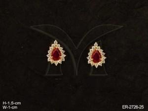 Ad Jewellery with Paan Shape Ad Earrings byManek Ratna