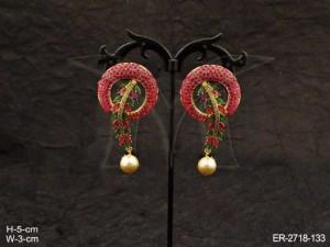 Ad Jewellery , Polo Round Dali Ad Earrings | Manek Ratna