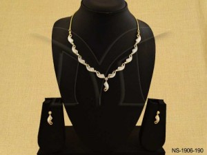 Ad Jewellery , Reptile Shape Chained Ad Necklace Set | Manek Ratna