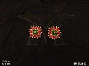 Ad Jewellery with Square Flower Ad Earrings by Manek Ratna