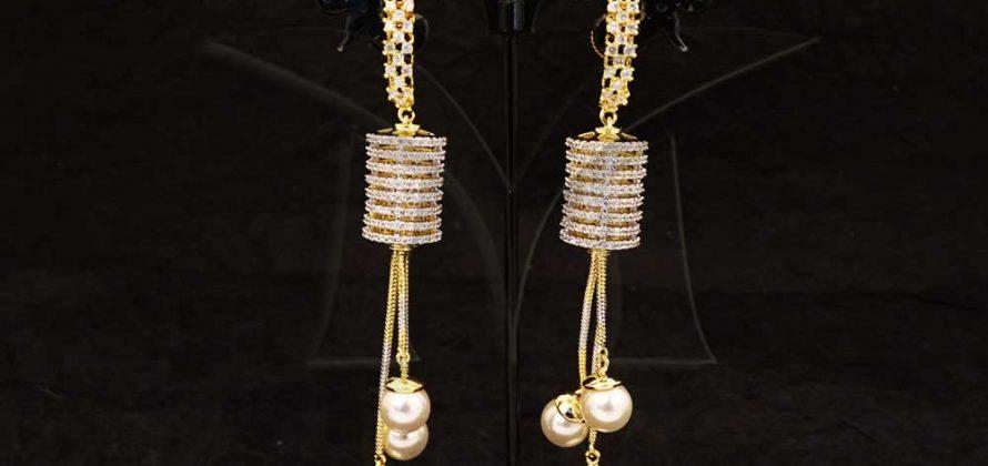Long CZ Earrings