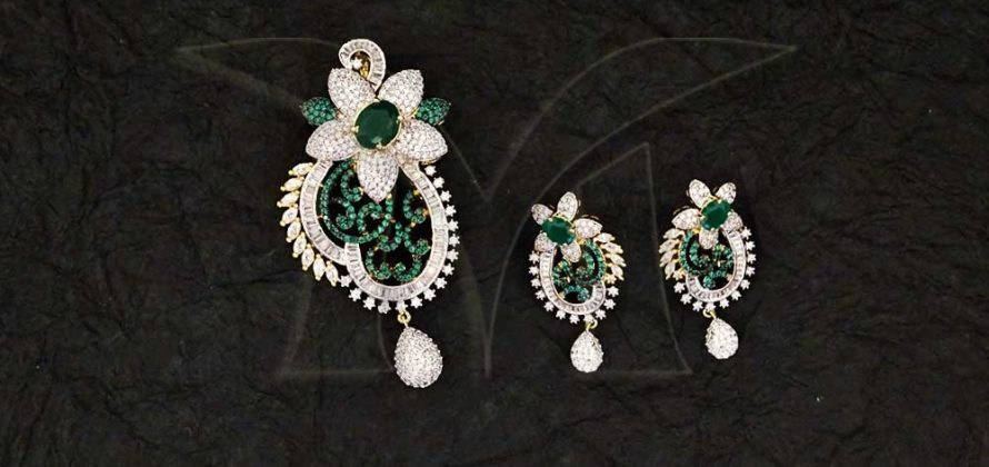 CZ Pendant Set Jewellery