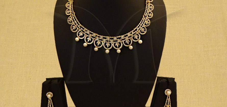 CZ Necklace Set Jewellery