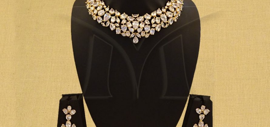 Cubic zirconium oxide Necklace Set