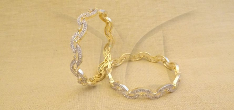 American Diamond Bangle Set