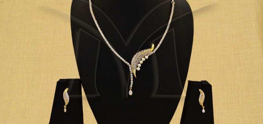 American Diamond Necklace Jewellery Set