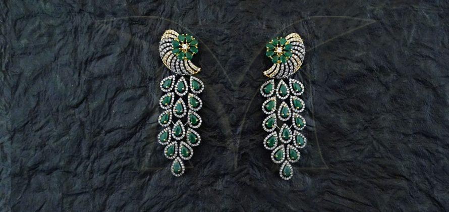 Pankh American Diamond Earrings