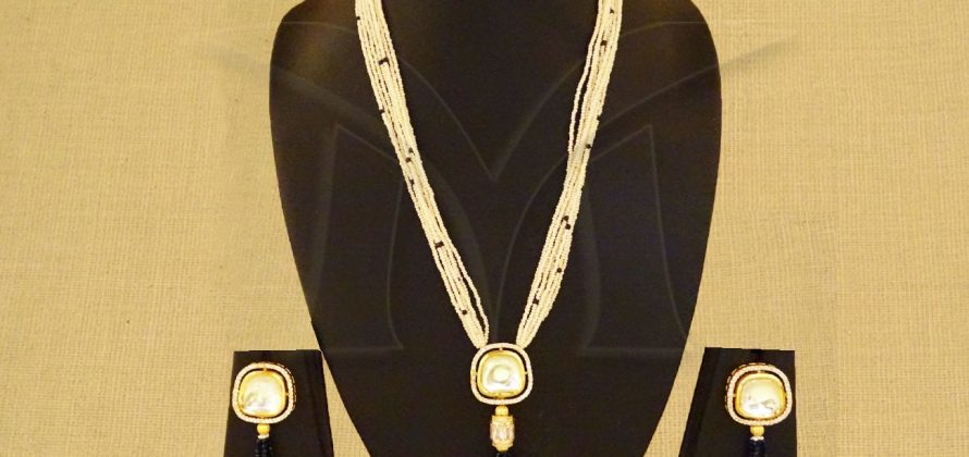 Long American Diamond Pendant Set