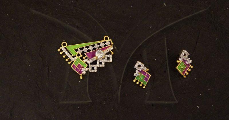 American Diamond Mangalsutra Jewellery